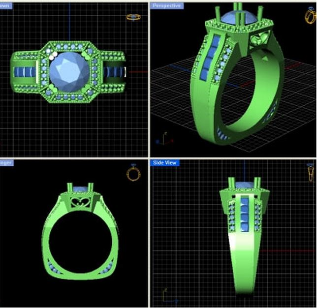 Custom Jewelry Designs with CAD